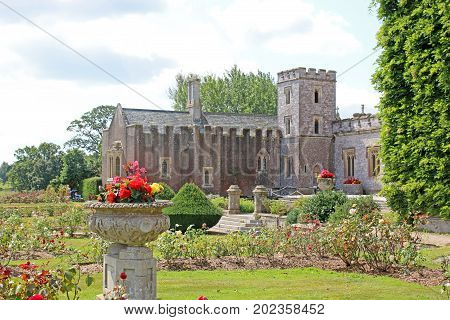 Powderham Castle fortified manor house in Devon