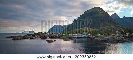 The fishing village of Tind is located in the Lofoten islands in the norther part of Norway.