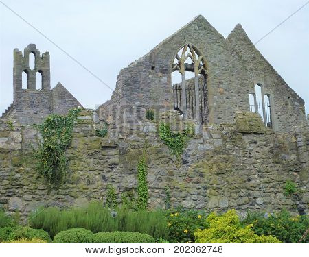Ruin of old house in Howth near Dublin Ireland