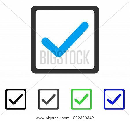 Checkbox vector pictogram. Style is a flat graphic symbol in black, gray, blue, green color variants. Designed for web and mobile apps.
