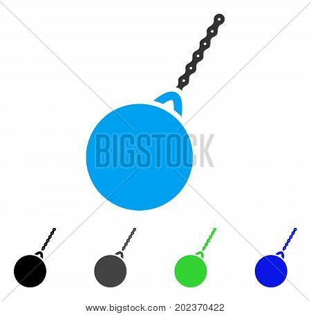 Destruction Hammer vector pictogram. Style is a flat graphic symbol in black, grey, blue, green color variants. Designed for web and mobile apps.