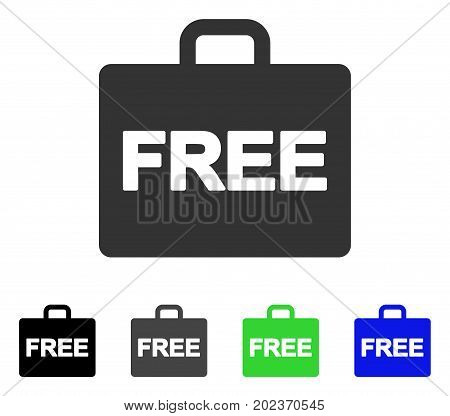 Free Accounting Case vector pictograph. Style is a flat graphic symbol in black, gray, blue, green color variants. Designed for web and mobile apps.