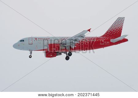 ST. PETERSBURG, RUSSIA - FEBRUARY 25 2017: Airbus A319-112