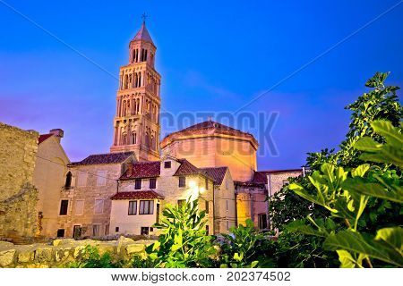 Split Cathedral And Diocletian Palace Evening View