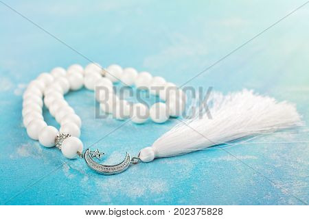 Beautiful islamic prayer beads. Ramadan Kareem holiday gift