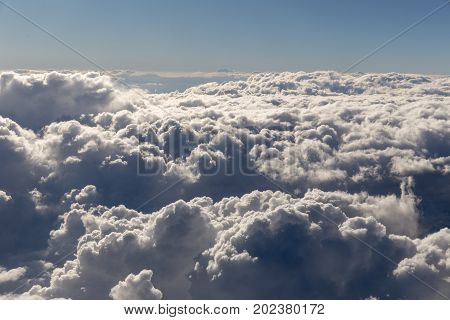 Puffy Clouds From Above