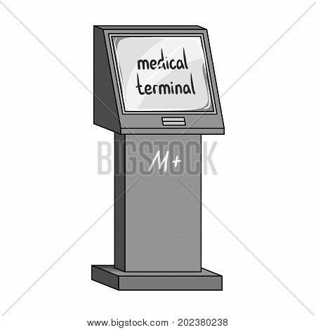 Medical terminal. Terminals single icon in monochrome style isometric vector symbol stock illustration .