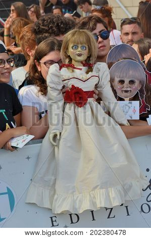 Giffoni Valle Piana Sa Italy - July 20 2017 : Annabelle 2 : Creation at Giffoni Film Festival 2017 - on July 20 2017 in Giffoni Valle Piana Italy