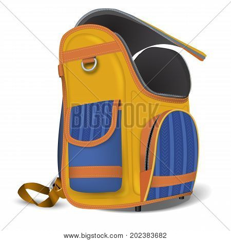 Empty Open School Satchel