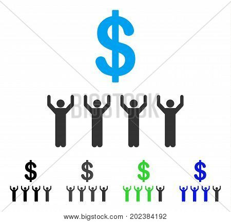 Dollar Religion vector pictogram. Style is a flat graphic symbol in black, gray, blue, green color variants. Designed for web and mobile apps.