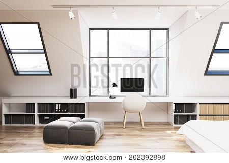 Attic Bedroom And Home Office