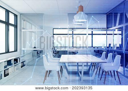 White Meeting Room Interior, Graphs