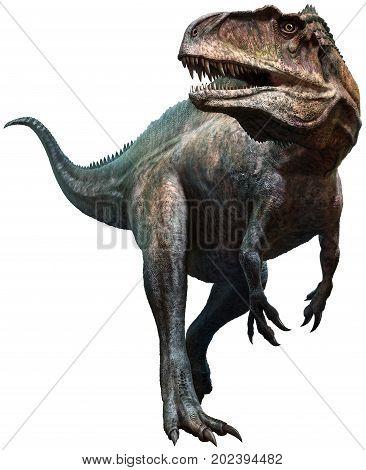 Acrocanthosaurus from the Cretaceous era 3D illustration