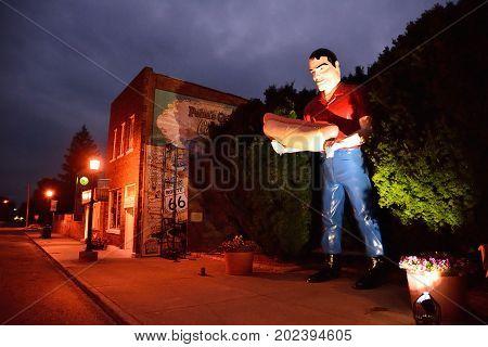 Sculpture Of Paul Bunyon Giant Man.