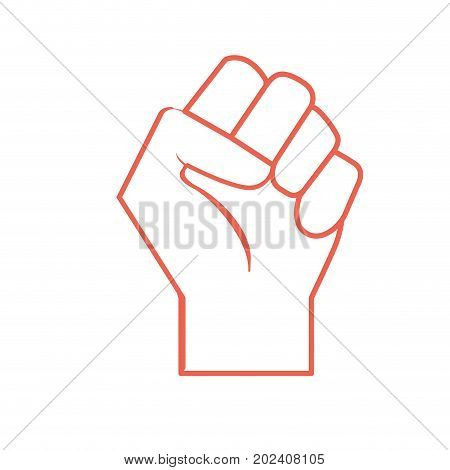 silhouette hand tight with all fingers design vector illustration