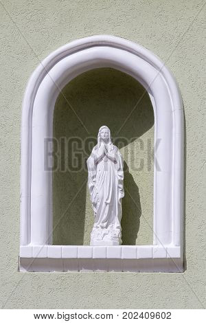 The statue of Our Lady of Heviz Hungary - Holy Mary the Mother of God close up
