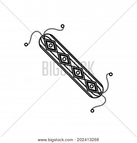 uncolored bracelet over white  background vector illustration