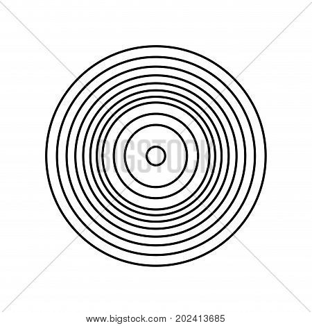 uncolored vinyl  music over white  background vector illustration