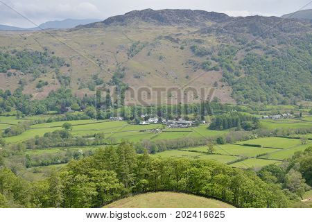 View over Borrowdale in the English Lake District