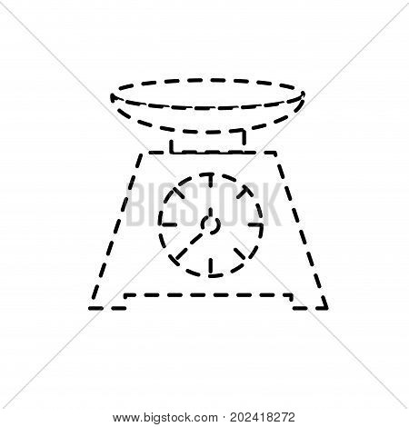 dotted shape bascule kitchen utensil object to cuisine vector illustration