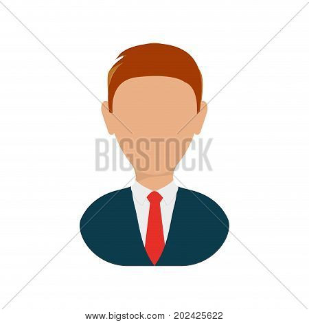 colorful  executive  man over white background  vector illustration