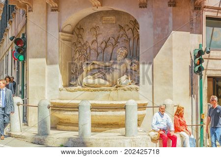 Rome, Italy-may 08, 2017:  Beautiful Landscape  Urban And Historical View Of The Rome,  Urban Life O