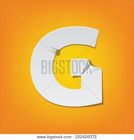 G Capital Letter Fold English Alphabet New Design