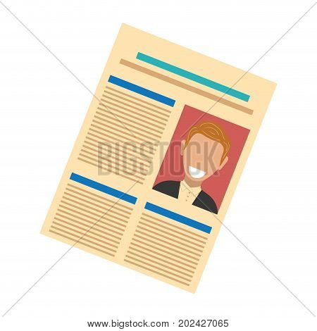 colorful  newspaper  over  white background  vector illustration