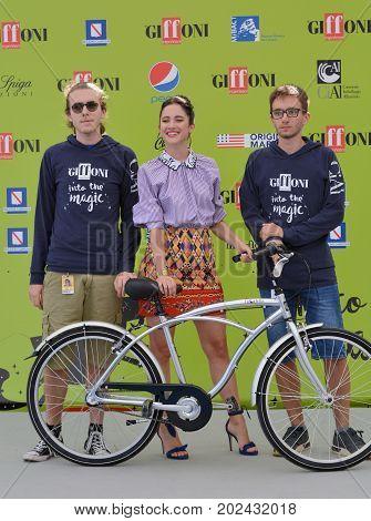 Giffoni Valle Piana Sa Italy - July 17 2017 : Lodovica Comello at Giffoni Film Festival 2017 - on July 17 2017 in Giffoni Valle Piana Italy