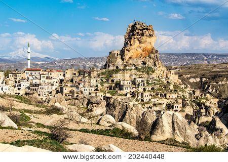 Ortahisar Castle In Cappadocia, Turkey