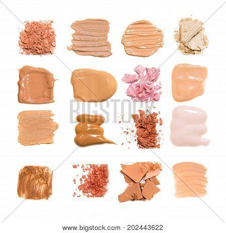 Skin tones color sample on white background