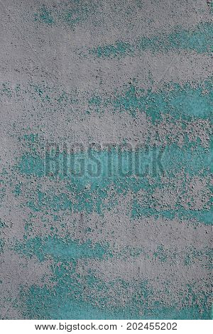 Metal Gray Wall Obsolete Paint With Shadow Background Texture.
