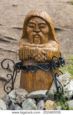Ancient Inuit Totem in mountain Altai, Russia