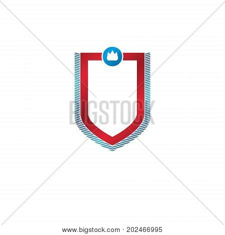 Blank vintage emblem with copy space vector heraldic design protection shield.