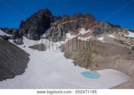 Glacial Tarn Underneath Three Fingered Jack