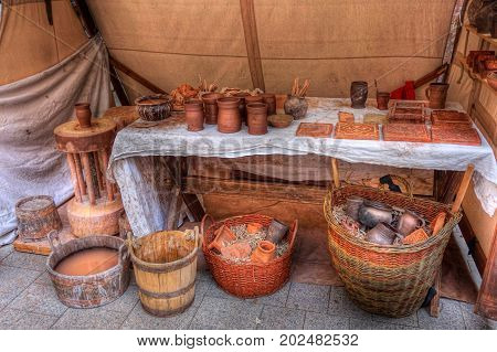 3.9.2016 Coronation festivities of the Czech Republic in Prague Commemoration of the Coronation of Charles IV. with a presentation of the contemporary crafts on the picture to see the potter's stand