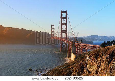 Golden Gate Bridge in San Francisco. California