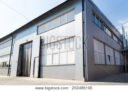 Manufacture Building. Territory Of The Plant