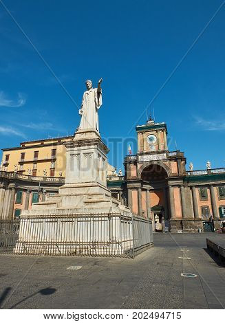 Foro Carolino In Naples. Campania, Italy.