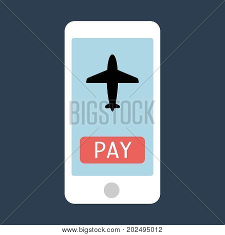 Sign in page on smartphone screen. Hand hold smartphone, finger touch sign in button. Mobile account. Modern concept for web banners, web sites, infographics. Creative flat design vector illustration icon eps10