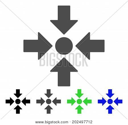 Meeting Point vector pictogram. Style is a flat graphic symbol in black, gray, blue, green color variants. Designed for web and mobile apps.