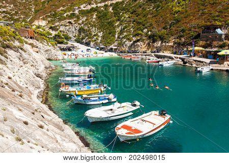 View Of Porto Vromi Beach In Zakynthos (zante) Island, In Greece