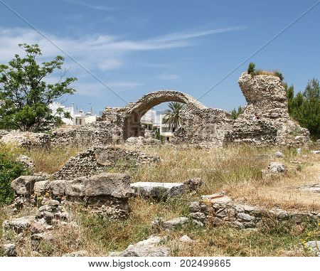 Antique Agora in the capital of the island of Kos. Greece
