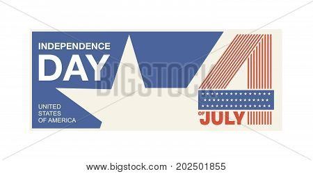 Symbol of Independence Day United States of America, also referred to as the Fourth of July. 4th of july. USA