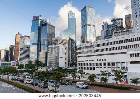 Skyscrapers Of Central District, Hong Kong