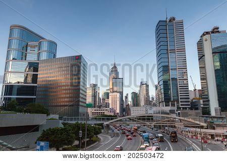Street View Of Hong Kong City Center
