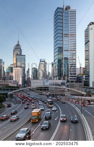 Connaught Rd Central, Street Of Hong Kong