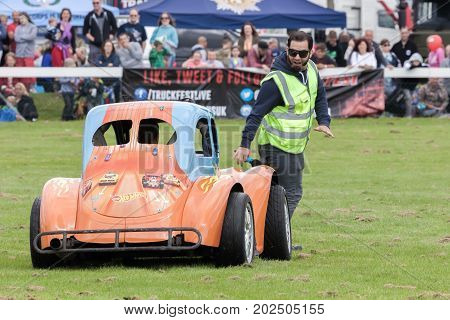 Jesse Mcclure And Hot Wheels Stunt Car