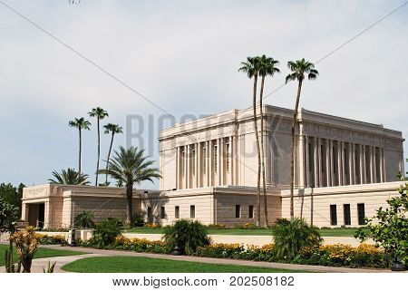 The Latter-Day Saint Temple in Mesa, Arizona