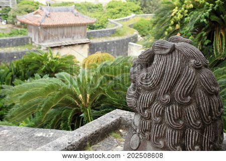 Shisa (guardian) In Shuri Castle, Naha, Okinawa, Japan